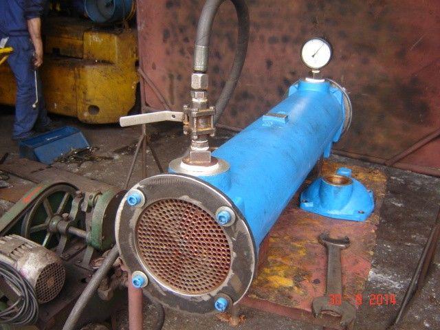 Conserto de trocador de calor